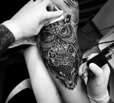 Black & White tattoo